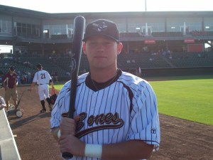 Former Athletes in Action TCL player Steven Trout playing professionally for the Kansas City T-Bones