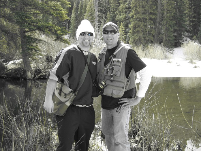 Fishing with Sean Woodcook- friend and worship pastor at The Village Church in Eagle, Colorado.  I had a fabulous time with dear brothers and sisters in Eagle.
