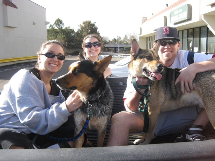 Being with Family...Getting the dogs bathed was a new experience for sure!