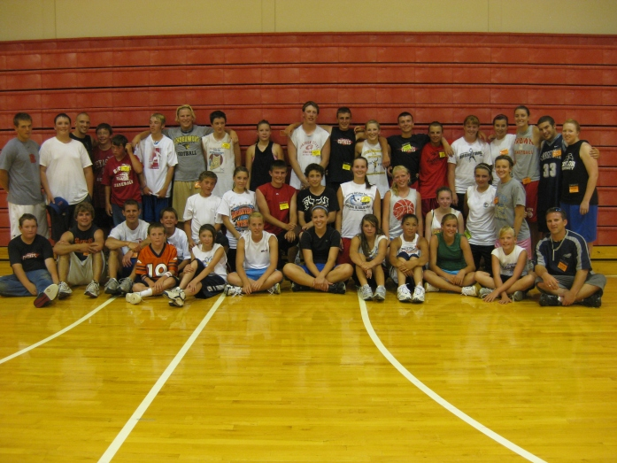 30-40 students ages 12-18 for 1 day Sports Camp hosting by Athletes in Action in Grover, Colorado.  Population of town under 1,000.